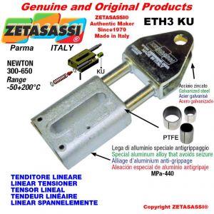 LINEAR SPANNELEMENTE ETH3KU mit Gabel 105 mm zur Anbringung von Zubehör Newton 300-650 mit PTFE-Gleitbuchsen