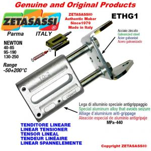 LINEAR TENSIONER ETHG1 wiht fork 62 mm for attachment of accessories Newton 40-85