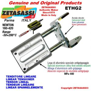 LINEAR TENSIONER ETHG2 wiht fork 80 mm for attachment of accessories Newton 180-420