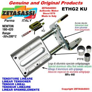 LINEAR TENSIONER ETHG2KU wiht fork 80 mm for attachment of accessories Newton 180-420 with PTFE glide bushings