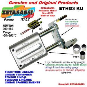 LINEAR SPANNELEMENTE ETHG3KU mit Gabel 105 mm zur Anbringung von Zubehör Newton 300-650 mit PTFE-Gleitbuchsen