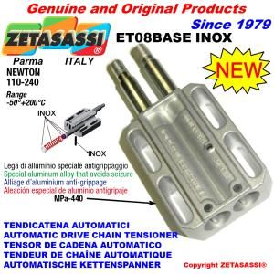 Tenditore lineare ET08BASEINOX serie inox Newton 110-240