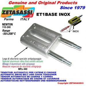 LINEAR TENSIONER ET1BASEINOX type INOX  Newton 110-240