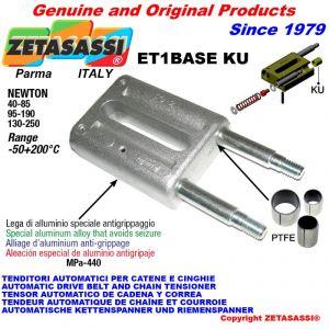 Tenditore lineare ET1BASEKU Newton 130-250 con boccole PTFE