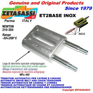 Tenditore lineare ET2BASEINOX serie inox Newton 210-350