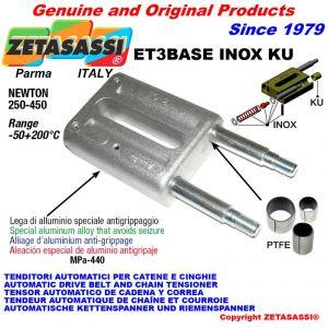 TENDEUR LINÉAIRE ET3BASEINOXKU type INOX  Newton 250-450 avec bagues PTFE