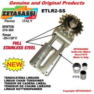 """TENDEUR DE CHAINE LINÉAIRE ETLR2-SS entièrement en acier inoxydable avec pignon tendeur 10B1 5\8""""x3\8"""" Z17 N 210-350"""