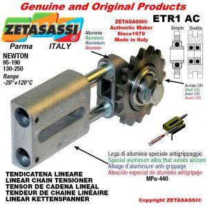 """Tendicatena lineare ETR1AC con pignone tendicatena doppio 08B2 1\2""""x5\16"""" Z16 Newton 95-190"""