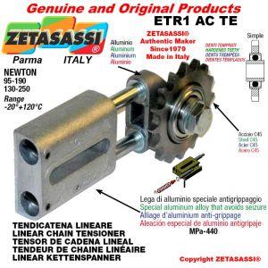 """Tendicatena lineare ETR1ACTE con pignone tendicatena semplice 12B1 3\4""""x7\16"""" Z15 temprati Newton 130-250"""