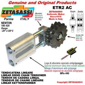 """TENSOR DE CADENA LINEAL ETR2AC con piñon tensor doble 06B2 3\8""""x7\32"""" Z21 Newton 180-420"""