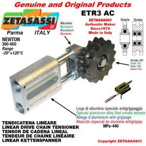 """TENSOR DE CADENA LINEAL ETR3AC con piñon tensor doble 08B2 1\2""""x5\16"""" Z16 Newton 300-650"""