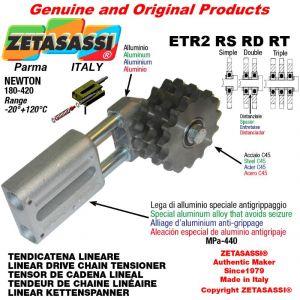 "LINEAR DRIVE CHAIN TENSIONER ETR2RSRDRT with idler sprocket 16B2 1""x17 Z12 Newton 180-420"