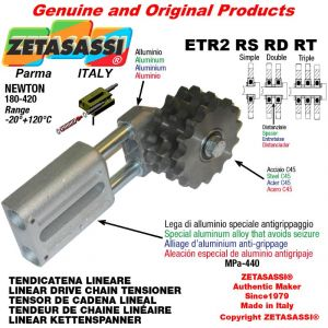 "Tendicatena lineare ETR2RSRDRT con pignone tendicatena 20B2 1""¼x3\4"" doppio Z9 Newton 180-420"