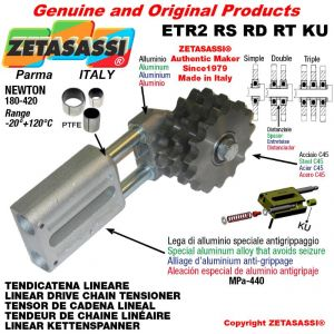 """LINEAR DRIVE CHAIN TENSIONER ETR2RSRDRTKU with idler sprocket 16B1 1""""x17 Z13 Newton 180-420 with PTFE bushings"""
