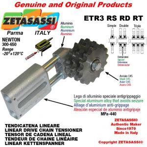 "TENDICATENA LINEARE ETR3RSRDRT con pignone tendicatena 16B2 1""x17 doppia Z12 Newton 300-650"