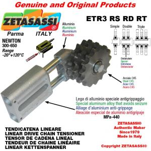 "LINEAR DRIVE CHAIN TENSIONER ETR3RSRDRT with idler sprocket 10B2 5\8""x3\8"" Z15 Newton 300-650"