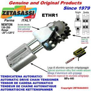 """Tendicatena lineare ETHR1 con pignone tendicatena doppio 08B2 1\2""""x5\16"""" Z16 Newton 130:250"""
