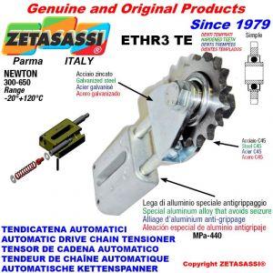 """Tendicatena lineare ETHR3TE con pignone tendicatena semplice 16B1 1""""x17 Z12 temprati Newton 300:650"""