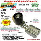 Tendicinghia lineare ETL08PU con rullo tendicinghia Ø60xL60 in acciaio zincato Newton 130-250