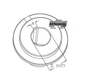 Perforación del buje por limitadores LF-LFCOR-LFSL-LFSLCOR