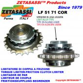 "LIGHT ALLOY TORQUE LIMITER WITH PLATE WHEEL ""LFCOR 51-71"""