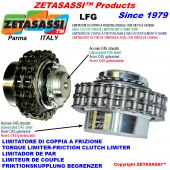 "TORQUE LIMITER WITH CHAIN COUPLING ""LFG"""