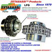 limitatore di coppia a frizione con giunto a catena LFG