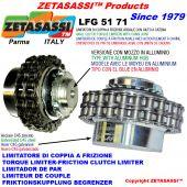 """LIMITADOR DE PAR CON JUNTA DE CADENA (BUJE EN ALEACIÓN LIGERA) """"LFG 51-71"""""""