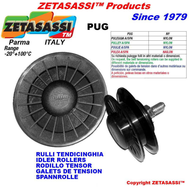 Rim Pulley With Bearings PUG | Drive Belt Accessorries | ZETASASSI®