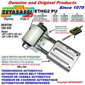 TENDEUR DE COURROIE LINÉAIRE ETHG2PU avec galet de tension Ø50xL65 en acier zingué N180:420
