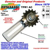 """ADJUSTABLE CHAIN TENSIONER TFR with idler sprocket simple 08B1 1\2""""x5\16"""" Z16"""