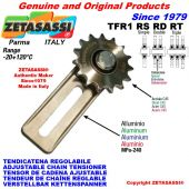 "ADJUSTABLE CHAIN TENSIONER TFR with idler sprocket 10B2 5\8""x3\8"" Z15"