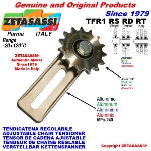 """Tendicatena regolabile TFR con pignone tendicatena 08B1 1\2""""x5\16"""" semplice Z15"""