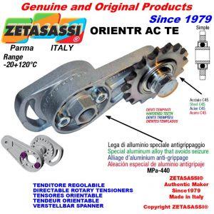 """TENSOR DE CADENA ORIENTABLE ORIENTRAC con piñon tensor simple 06B1 3\8""""x7\32"""" Z21 endurecido"""