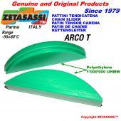 Oval arch head made of polyethylene 1000