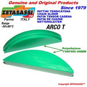 Pattino tenditore in polietilene 1000 ad arco ovale