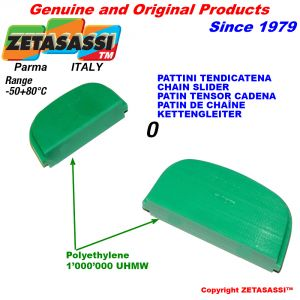 Pattino tenditore in polietilene 1000 ovale