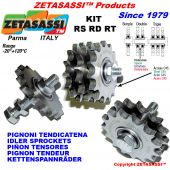 SPROCKETS KIT with bearings  RS-RD-RT Including spacer, nut and bolt.