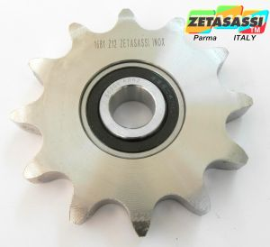 STAINLESS STEEL IDLER SPROCKETS TYPE AC WITH STAINLESS STEEL BEARING