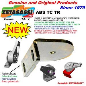 Haltebügel aus verzinktem Stahl für rotierende Spanner mit Feder Modell TC und TR.