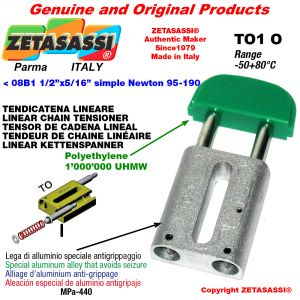 "TENDICATENA LINEARE < 08B1 1/2""x5/16"" semplice Newton 95-190"