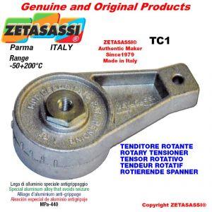 DREH SPANNELEMENTE TC1 mit Schmierer mit Bohrung Ø8,2mm zur Anbringung von Zubehör Newton 50-180