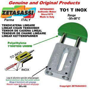 "Tendicatena lineare serie inox 08B3 1/2""x5/16"" triplo Newton 110-240"
