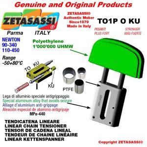 """Tendicatena lineare 20B1 1""""1/4x3/4"""" semplice Newton 110-450 con boccole PTFE"""