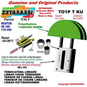 """Tendicatena lineare 12B3 3/4""""x7/16"""" triplo Newton 90-340 con boccole PTFE"""